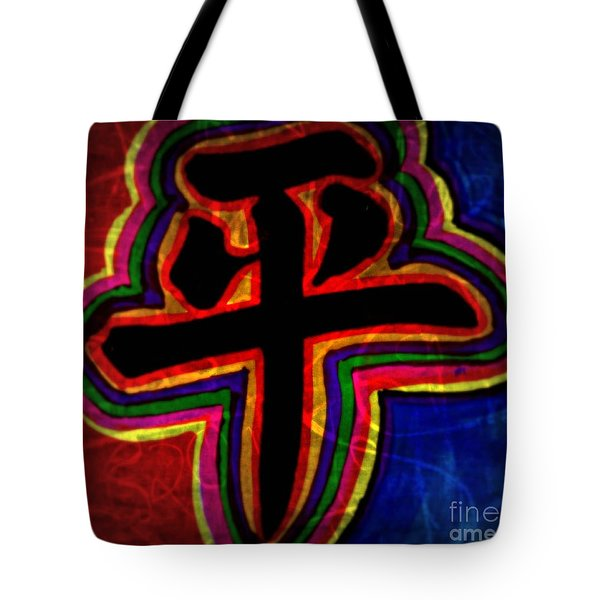 Peace, Chinese Symbol Tote Bag by WBK
