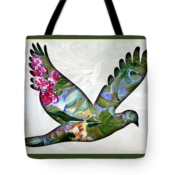 Peace For Peace Tote Bag by Mindy Newman