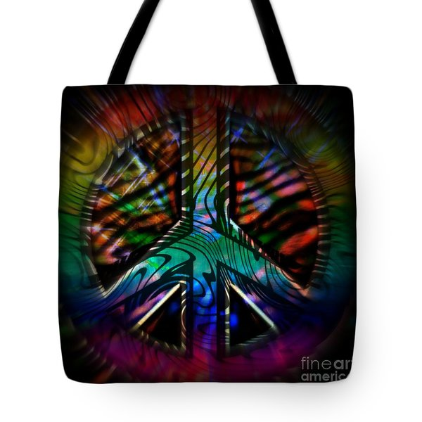 Peace Series #2 Tote Bag by WBK