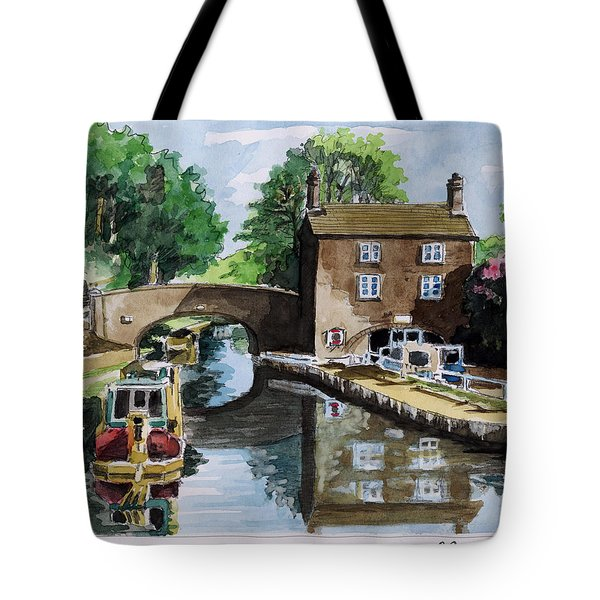 Peacfull House On The Lake Tote Bag by Alban Dizdari