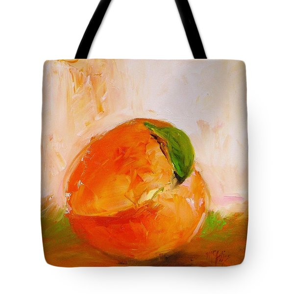 Peach Tote Bag by Cathy McIntire