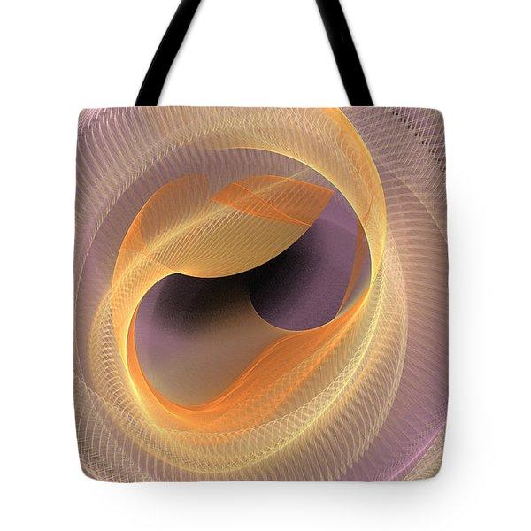 Peaches And Cream Tote Bag by Deborah Benoit