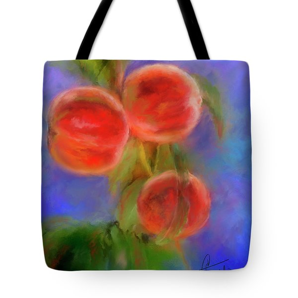 Peachy Keen Tote Bag by Colleen Taylor