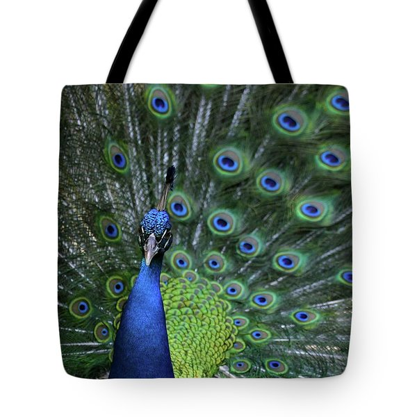 Peacock Tote Bag by Sabrina L Ryan