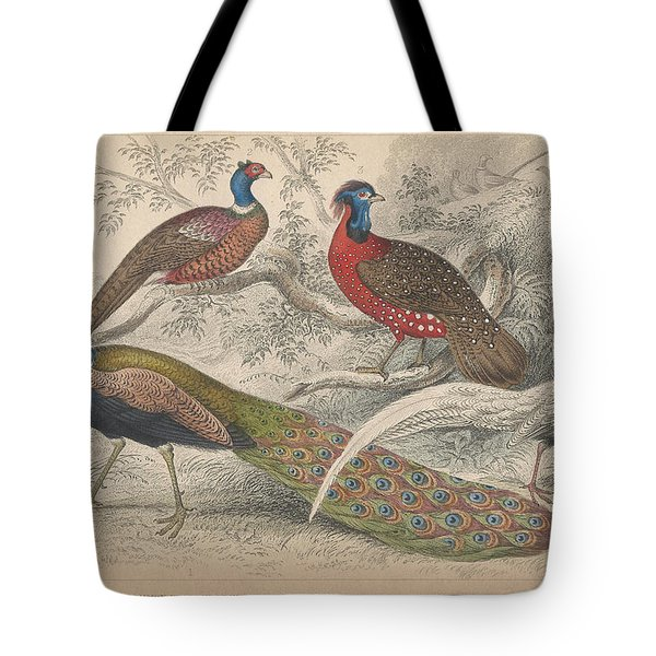 Peacocks Tote Bag by Oliver Goldsmith