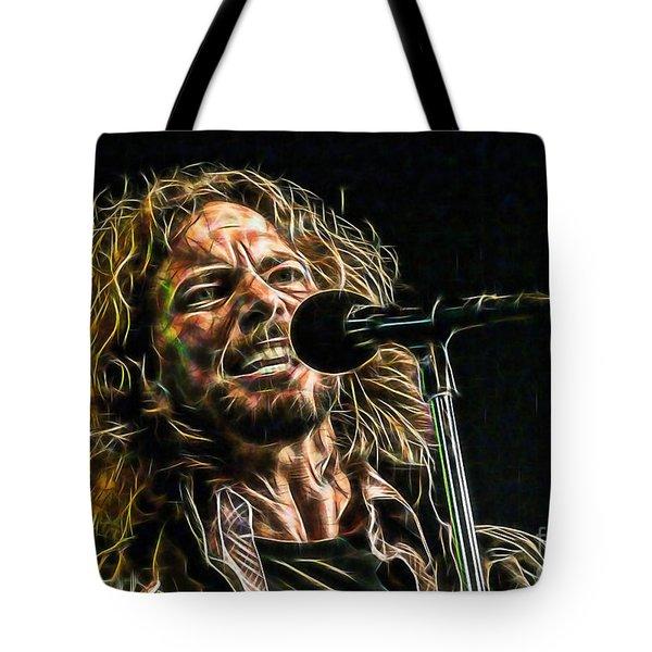 Pearl Jam Eddie Vedder Collection Tote Bag by Marvin Blaine