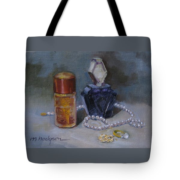 Pearls And Perfumes Tote Bag by Margaret Hodgson