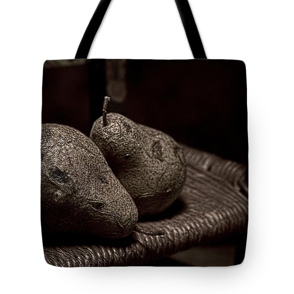 Pears On A Chair I Tote Bag by Tom Mc Nemar