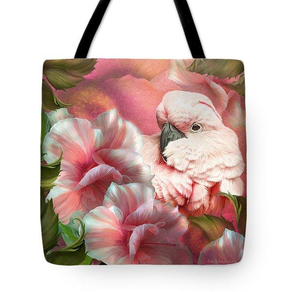Peek A Boo Cockatoo Tote Bag by Carol Cavalaris
