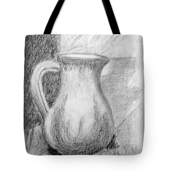 Pencil Pitcher Tote Bag by Jamie Frier