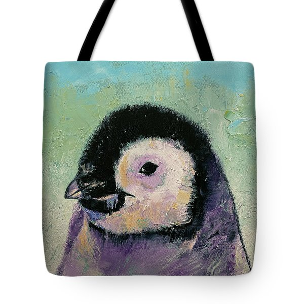 Penguin Chick Tote Bag by Michael Creese