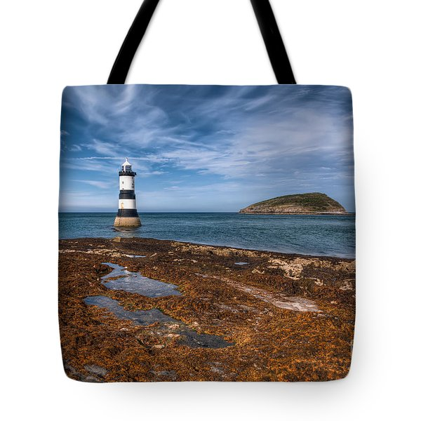 Penmon Lighthouse Tote Bag by Adrian Evans