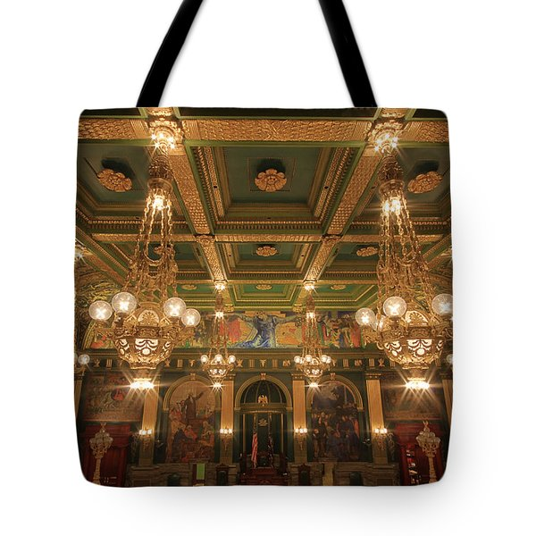 Pennsylvania Senate Chamber Tote Bag by Shelley Neff