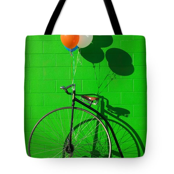 Penny Farthing Bike Tote Bag by Garry Gay