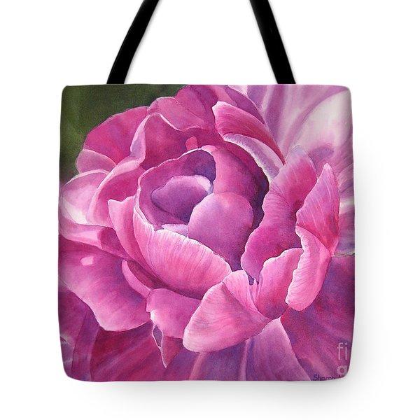 Peony Tulip Tote Bag by Sharon Freeman