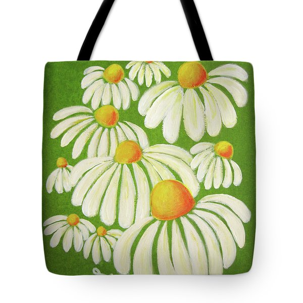 Perky Daisies Tote Bag by Oiyee  At Oystudio