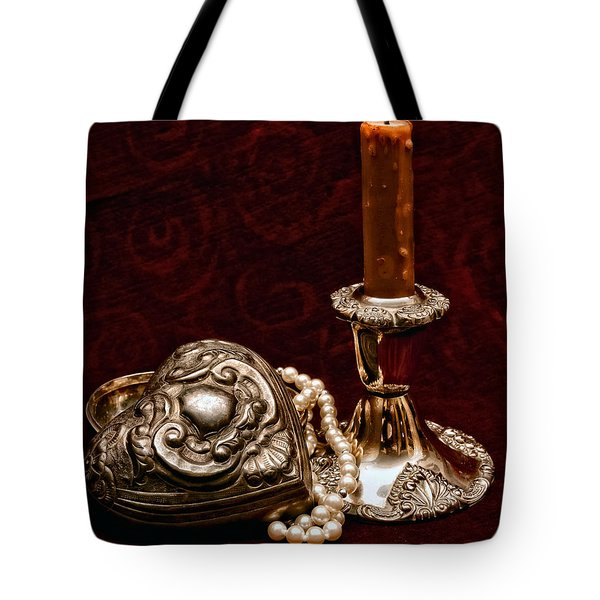 Pewter And Pearls Tote Bag by Christopher Holmes