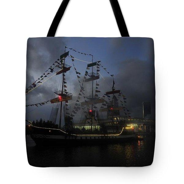 Phantom Ship Tote Bag by David Lee Thompson