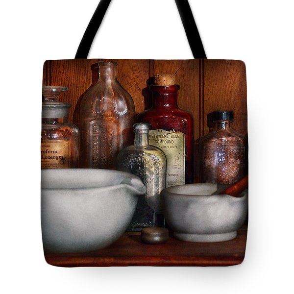 Pharmacist - Medicine For Coughing Tote Bag by Mike Savad