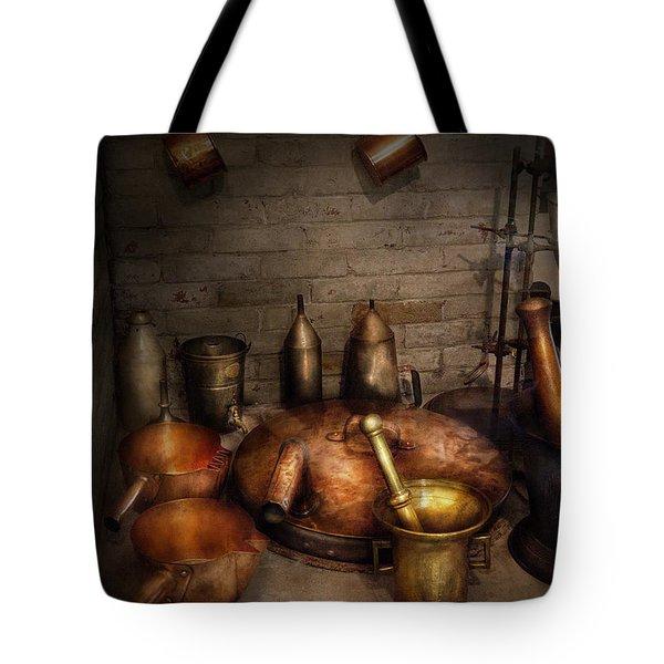 Pharmacy - Alchemist's Kitchen Tote Bag by Mike Savad