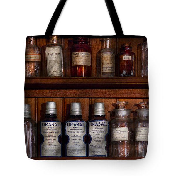 Pharmacy - Bonafide Cures Tote Bag by Mike Savad