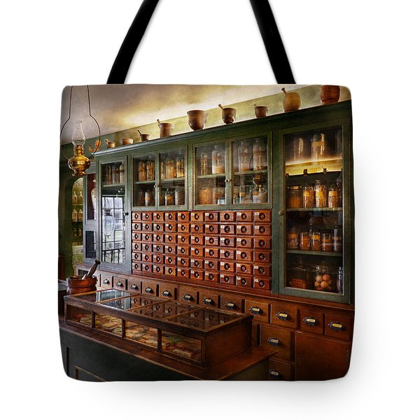 Pharmacy - I'll be out in a minute  Tote Bag by Mike Savad