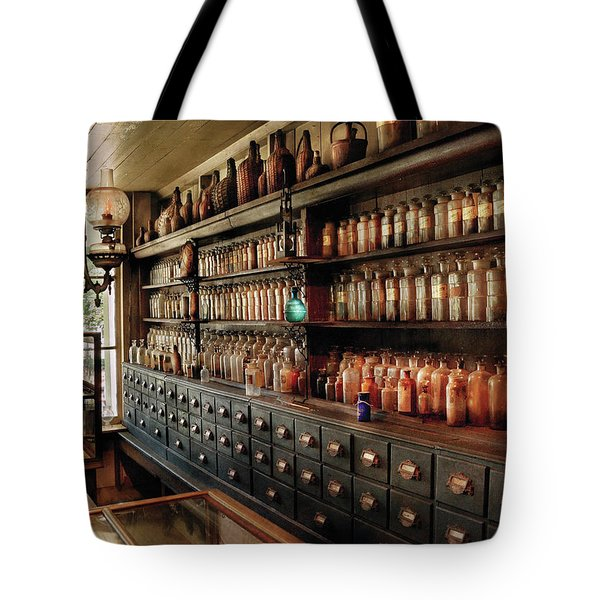 Pharmacy - So many drawers and bottles Tote Bag by Mike Savad