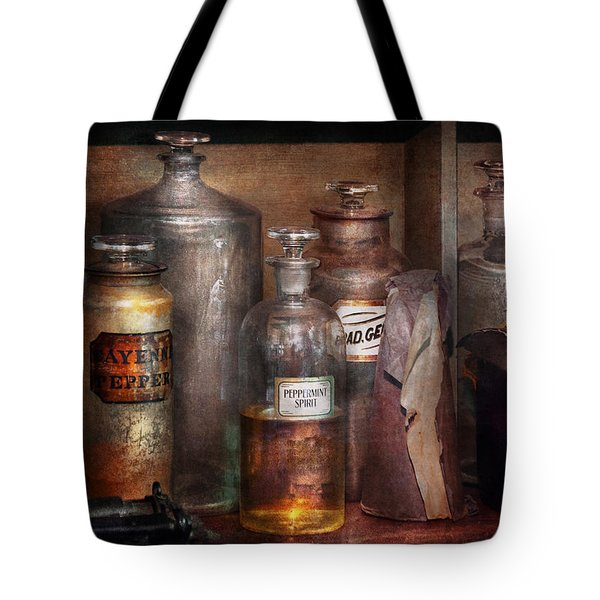 Pharmacy - That's the Spirit Tote Bag by Mike Savad