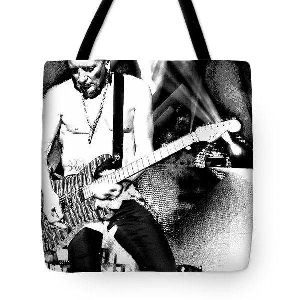 Phil Collen Of Def Leppard 4 Tote Bag by David Patterson