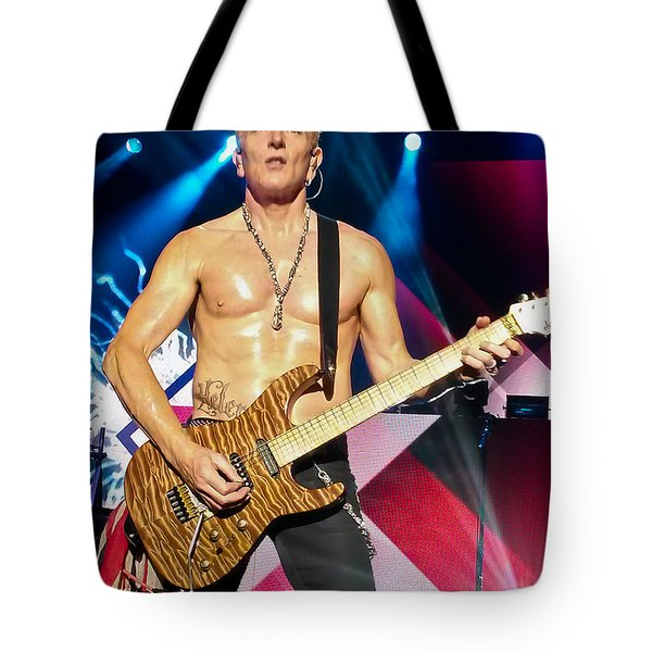 Phil Collen Of Def Leppard 5 Tote Bag by David Patterson