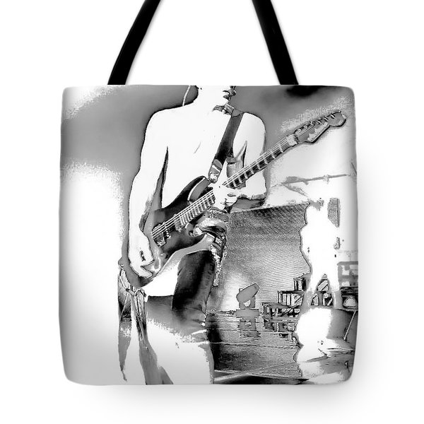 Phil Collen Of Def Leppard Tote Bag by David Patterson