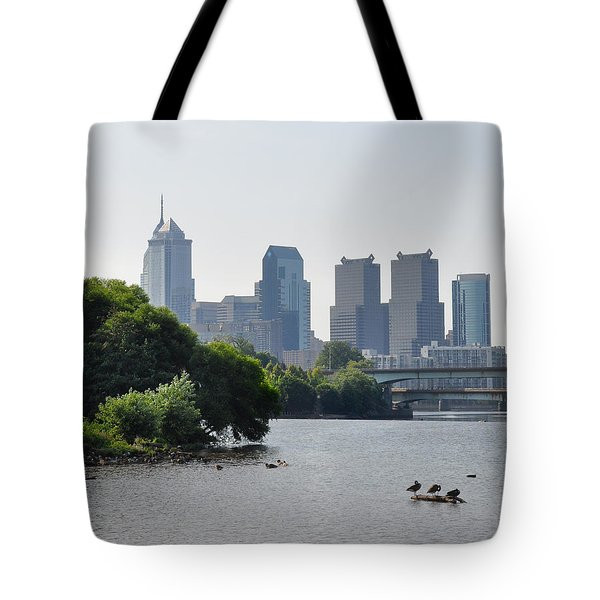 Philadelphia Along The Schuylkill River Tote Bag by Bill Cannon