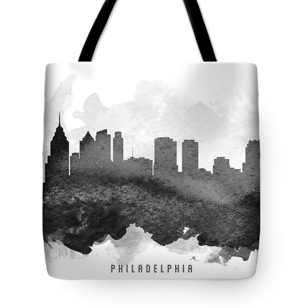 Philadelphia Cityscape 11 Tote Bag by Aged Pixel