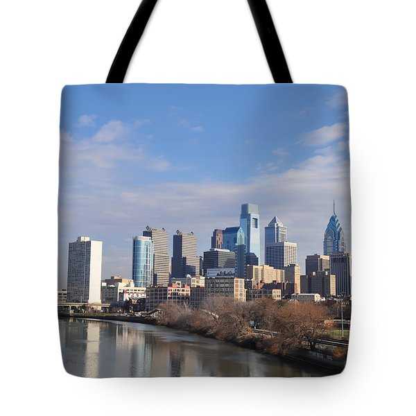 Philadelphia from the South Street Bridge Tote Bag by Bill Cannon