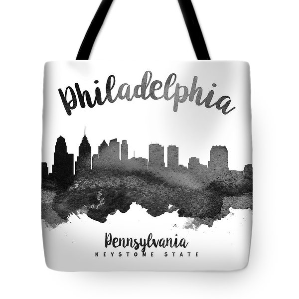 Philadelphia Pennsylvania Skyline 18 Tote Bag by Aged Pixel