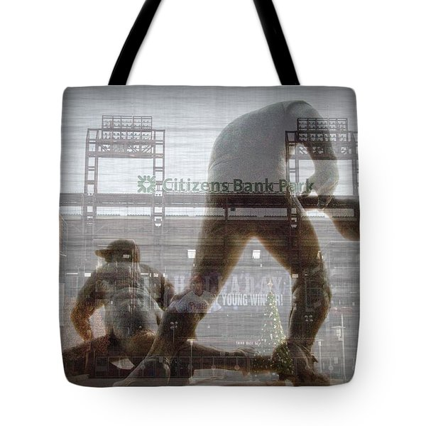 Philadelphia Phillies - Citizens Bank Park Tote Bag by Bill Cannon