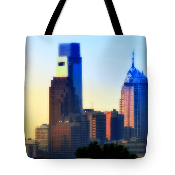 Philly Morning Tote Bag by Bill Cannon