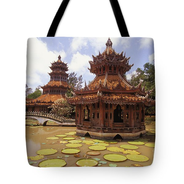 Phra Kaew Pavillion Tote Bag by Bill Brennan - Printscapes
