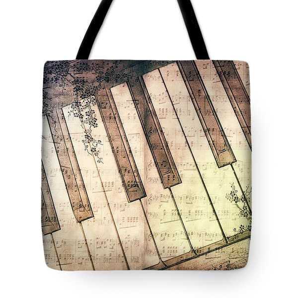 Piano Days Tote Bag by Jutta Maria Pusl