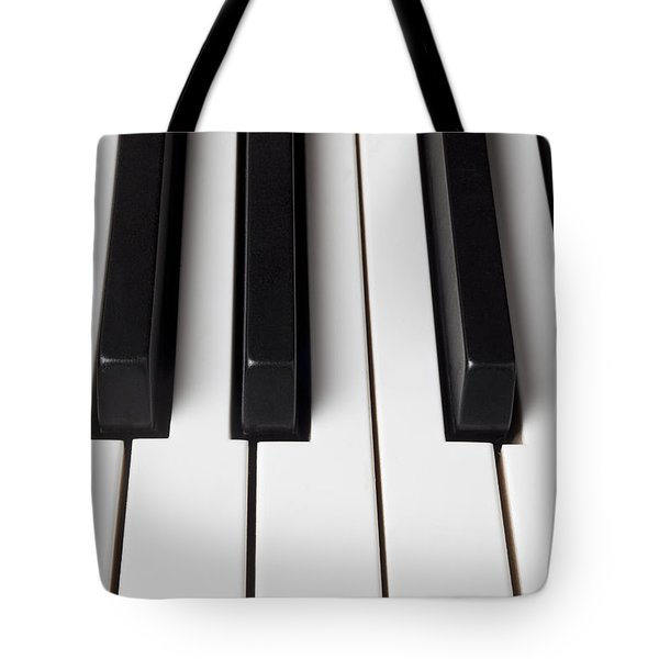 Piano Keys Close Up Tote Bag by Garry Gay