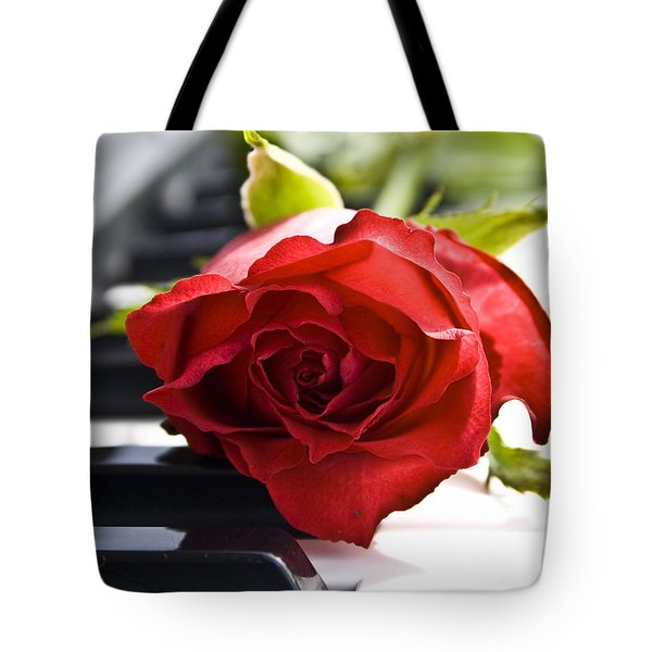 Piano Rose Tote Bag by Sophie De Roumanie