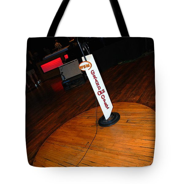 Piece of the original old stage at the Grand Ole Opry in Nashville Tote Bag by Susanne Van Hulst