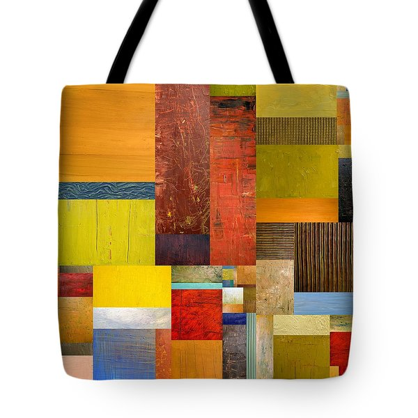 Pieces Project L Tote Bag by Michelle Calkins