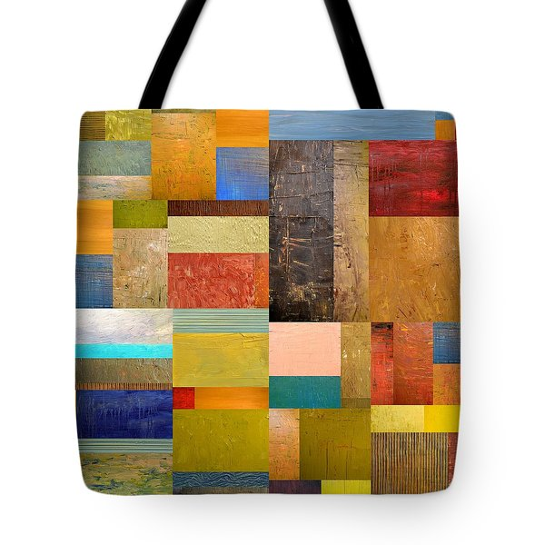 Pieces Project lll Tote Bag by Michelle Calkins