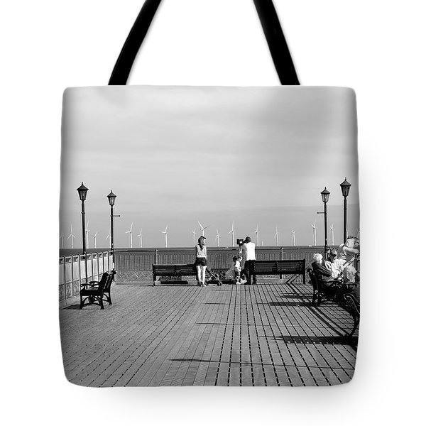 Pier End View At Skegness Tote Bag by Rod Johnson
