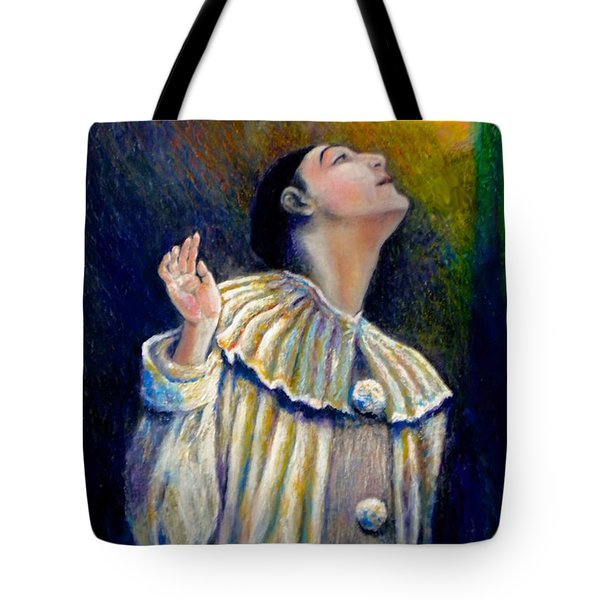 Pierrot's Peering Into The Light Tote Bag by Michael Durst