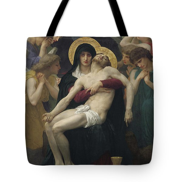Pieta Tote Bag by William Adolphe Bouguereau