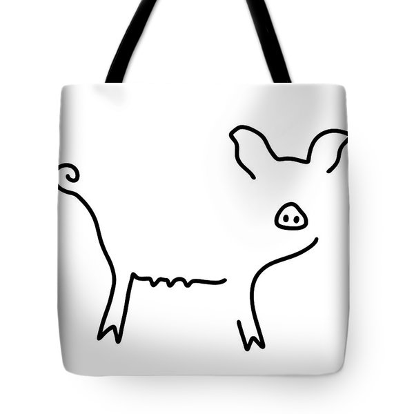 Pig Piglet Make A Mess Tote Bag by Lineamentum