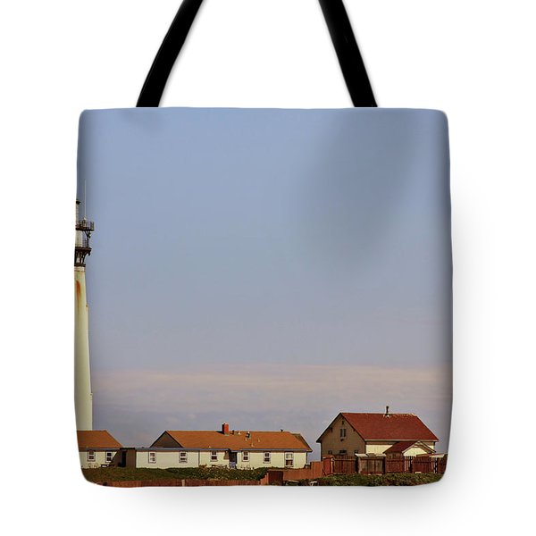 Pigeon Point Lighthouse On California's Pacific Coast Tote Bag by Christine Till