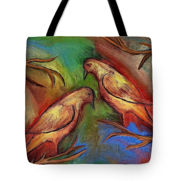 Pigeons Tote Bag by Rafi Talby